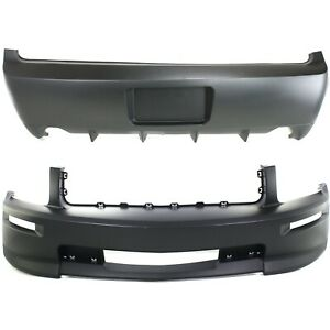 New Bumper Covers Facials Set Of 2 Front Rear Fo1000614 Fo1100660 Pair