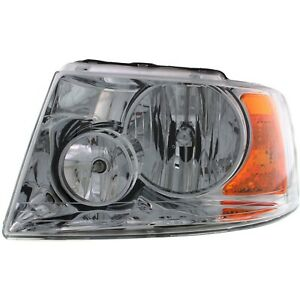 Headlight For 2003 2004 2005 2006 Ford Expedition Left Chrome Housing With Bulb