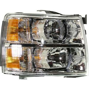 Halogen Headlight For 2007 2013 Chevrolet Silverado 1500 Right W Bulb Capa