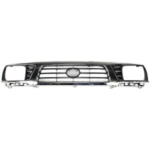 Grille Upper Chrome Black For 95 97 Toyota Tacoma 4wd