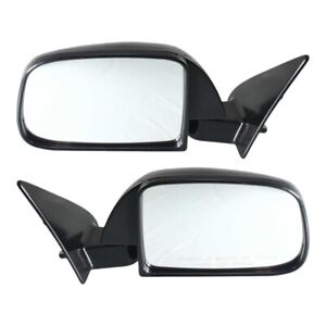 Manual Side View Mirrors Left Right Pair Set New For 89 95 Toyota Pickup Truck