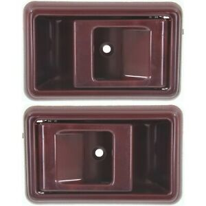 Interior Door Handle For 95 2000 Toyota Tacoma 89 95 Pickup Set Of 2 Red Plastic