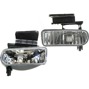 New Fog Lights Lamps Set Of 2 Driver Passenger Side Chevy Suburban Lh Rh Pair
