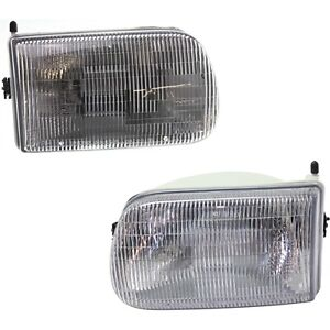 Headlight Set For 94 95 96 97 Mazda B2300 Left And Right With Bulb 2pc