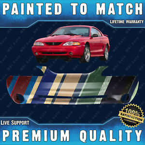 New Painted To Match Front Bumper Fascia Direct Fit For 1994 1998 Mustang Cobra