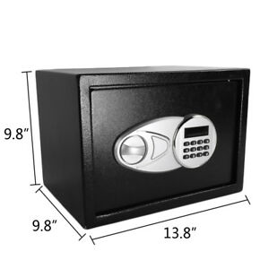Wall Mount Home Security Electronic Digit Combination Lock Feet Safety Box
