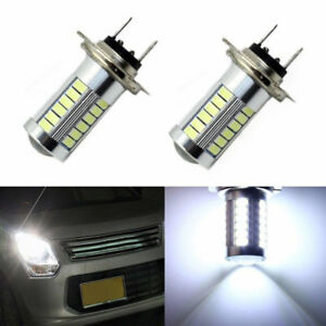 H7 5630 Smd 33 Led 12v High Bright White Auto Car Fog Driving Light Lamp Bulb