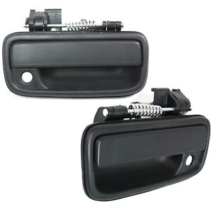 Exterior Door Handle For 95 2004 Toyota Tacoma Set Of 2 Front Black Plastic