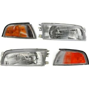 Headlight Kit For 97 2001 Mitsubishi Mirage Left And Right 4pc