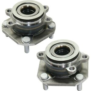 Front Wheel Hub And Bearing Assembly For 4 wheel Abs 2007 12 Nissan Sentra Pair