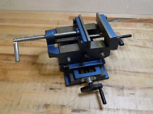 Horizontal Cross Slide Drill Press Vise 6 Jaw Width 6 Opening Capacity