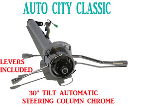 Street Hot Rod Stainless Tilt Steering Column 30 Chrome Column Shift Automatic