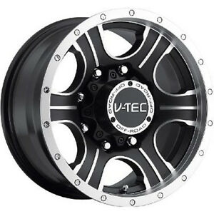 18x8 5 Machined Black V tec Assassin 5x5 0 Rims Nitto Trail Grappler 285 65 18