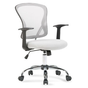 New Ergonomic Midback Swivel Mesh Task Computer Office Chair Desk Seat Gray