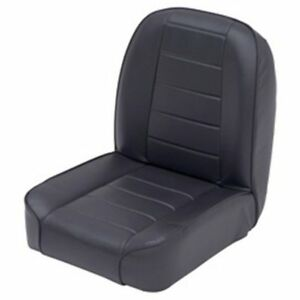 Smittybilt 44801 Seat Black Vinyl Low Back Bucket Direct Fit