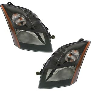 Headlight Set For 2007 2009 Nissan Sentra Se R Spec V Left And Right With Bulb