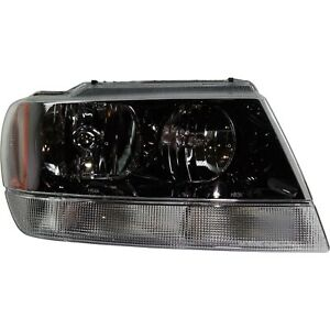 Headlight For 99 2004 Jeep Grand Cherokee Right Black Housing With Harness