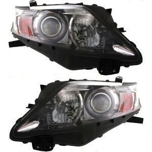 Headlight Set For 2010 2012 Lexus Rx350 Canada Built Left And Right With Bulb