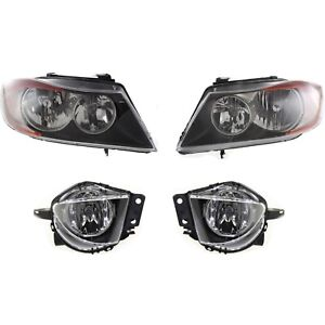 Headlight Kit For 2007 2008 Bmw 328i 2006 330i Left And Right 4pc
