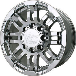 18x8 5 Chrome Vision Warrior 5x4 5 18 Wheels Nitto Trail Grappler 285 65 18