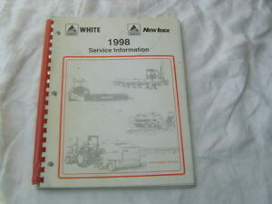 1988 Agco White New Idea Round Baler Hay Rakes Service Information Manual