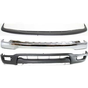 New Kit Bumper Face Bar Front Chrome For Tacoma To1002174 To1087112 To1095196