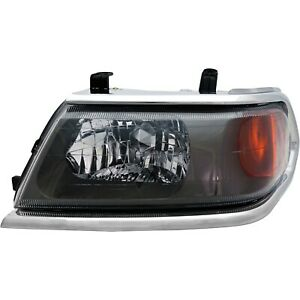 Headlight For 2000 2004 Mitsubishi Montero Sport Left Chrome Trim With Bulb
