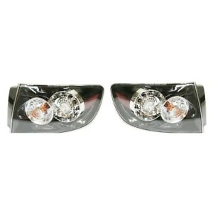 Led Tail Light Set For 2007 2009 Mazda 3 Sedan Clear Red Lens W Bulbs 2pcs
