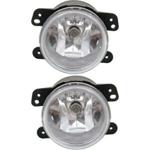 Set Of 2 Clear Lens Fog Light For 2010 16 Jeep Wrangler jk Lh