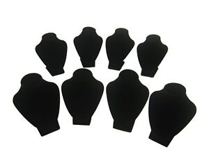 Small Black Velvet Necklace Jewelry Bust Display Stands