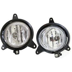 Set Of 2 Clear Lens Fog Light For 2003 06 Kia Sorento Lh Rh W Bulbs