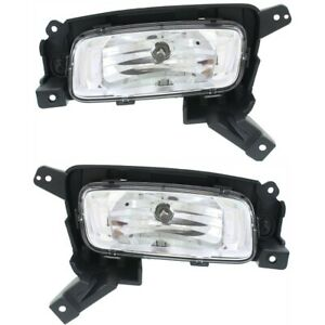 Fog Light Set For 2014 2015 Kia Sorento Front Halogen With Bulb Capa 2pc