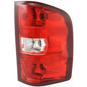 Halogen Tail Light For 2007 13 Chevy Silverado 1500 Right Clear Red W Bulbs Capa