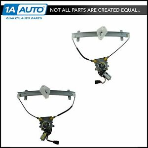 Front Power Window Lift Regulator Motor Assembly Pair Lh Rh Set For Acura Tl