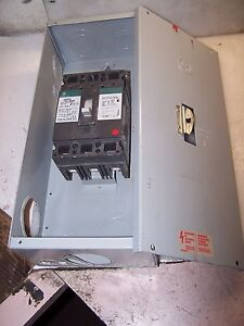 Ge 100 Amp Enclosed Circuit Breaker Disconnect Switch Ted134100wl 480 Vac