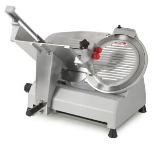 12 Blade Electric Meat Slicer Deli Slice Veggies Cutter Home Kitchen Fixed Knob