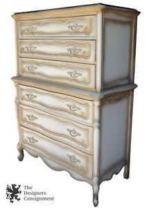 Bassett Cartier Collection Chest On Chest French Provincial Highboy Dresser 55