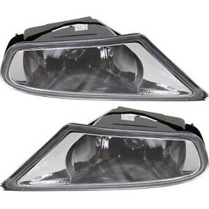 Set Of 2 Clear Lens Fog Light For 05 07 Honda Odyssey Lh Rh Mini Passenger Van