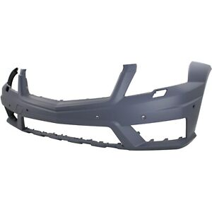 Front Bumper Cover For 2010 12 Mercedes Benz Glk350 W Amg Hlw Parktronic Holes