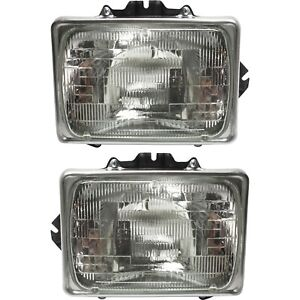Headlight For 1999 2007 Ford F 250 Super Duty Driver And Passenger Side