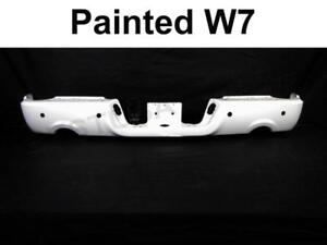 Painted Bright White W7 Rear Bumper Bar For 09 17 Dodge Ram 1500 W Sensor W Dual