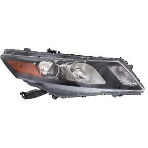 Halogen Headlight For 2010 2011 Honda Accord Crosstour Right W Bulb