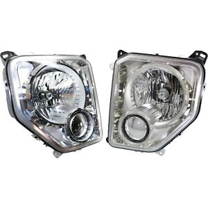 Headlight Set For 2008 2012 Jeep Liberty Left And Right With Bulb Capa 2pc