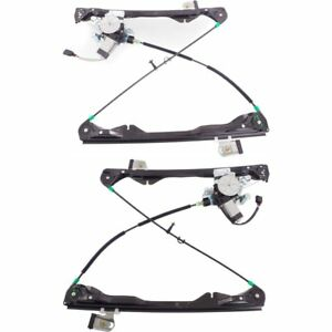 Power Window Regulator Set For 2008 2011 Ford Focus Front With Motor 2pcs