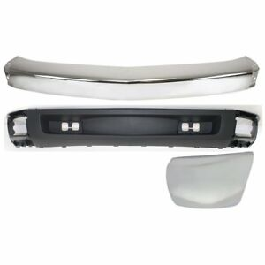 Bumper Kit For 2007 2008 Chevy Silverado 1500 Front Left New Body Style 3pc