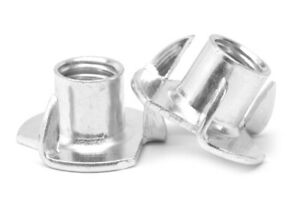 8 32 X 1 4 Coarse Thread Tee Nut 3 Prong Low Carbon Steel Zinc Plated