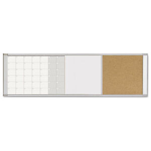 Mastervision Magnetic Calendar Combo Board 48 X 18 Aluminum Frame