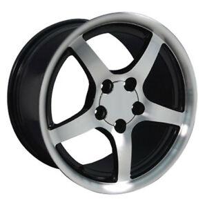Black Wheel 17x9 5 W Machined Face For 1993 2002 Chevy Camaro Owh0412