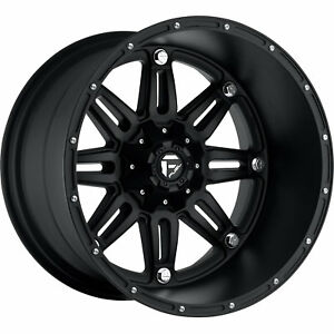 18x9 Black Fuel Hostage 8x170 1 Wheels Nitto Trail Grappler Lt285 65r18 Tires
