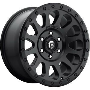 18x9 Black Fuel Vector D579 8x6 5 1 Rims Nitto Trail Grappler 285 65 18 Tires